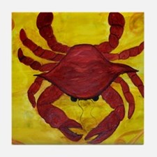 Artzy Red Crab Tile Coaster