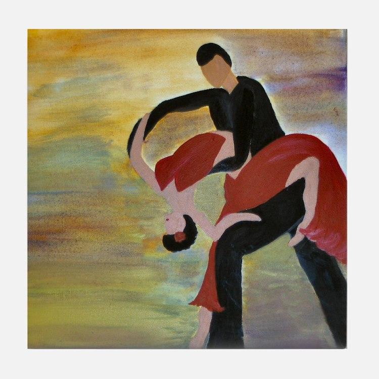 Ballroom Dancing Tile Coaster
