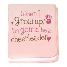 Future Cheerleader baby blanket