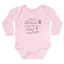 Future Cheer Captain Long Sleeve Infant Bodysuit