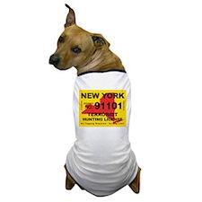 terrorist-hunting-license-NY.png Dog T-Shirt