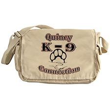 Quincy K-9 Connection Logo Messenger Bag