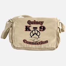 Quincy K-9 Connection Logo Messenger Bag