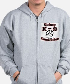 Quincy K-9 Connection Logo Zip Hoodie