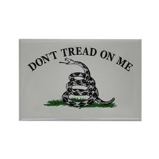 Dont Tread On Me - Grey Rectangle Magnet