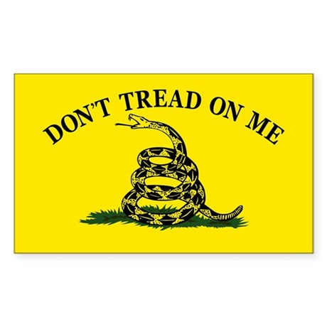 Dont Tread On Me Sticker (Rectangle)