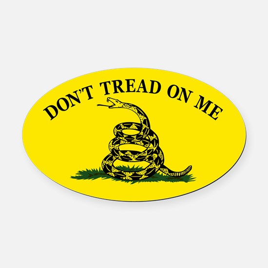 Dont Tread On Me Oval Car Magnet
