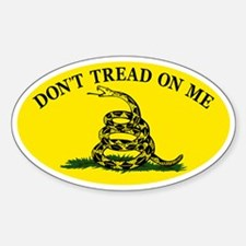 Dont Tread On Me Classic Sticker (Oval)