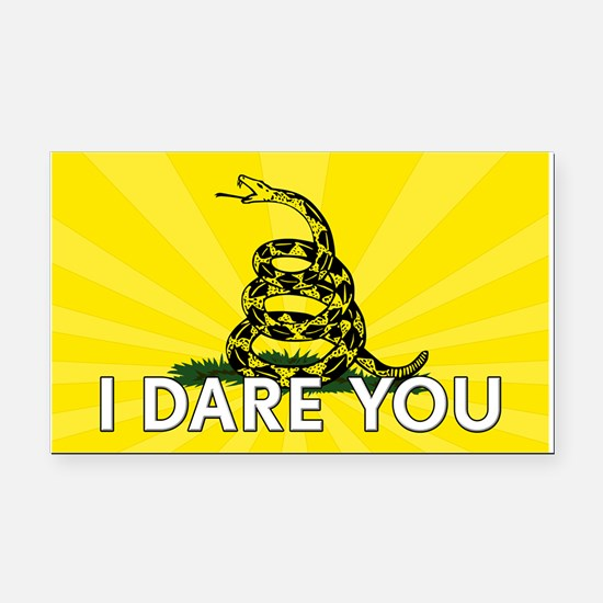 I DARE YOU to tread on Me Rectangle Car Magnet