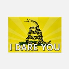 I DARE YOU to tread on Me Rectangle Magnet