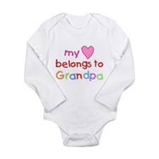 Funny My heart belongs to a dentist Long Sleeve Infant Bodysuit
