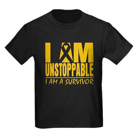Unstoppable Appendix Cancer Kids Dark T-Shirt