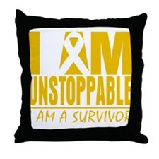 Unstoppable Appendix Cancer Throw Pillow