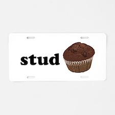 Stud Muffin Aluminum License Plate