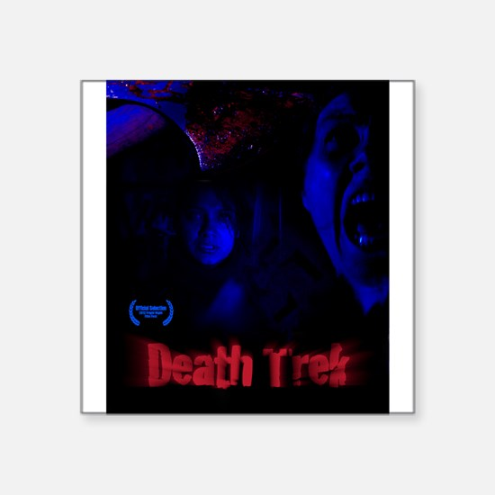 "Death Trek Poster Square Sticker 3"" x 3"""