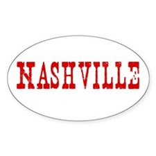 Nashville Tennessee TN - Oval Decal
