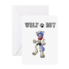 Anime Wolf Boy Folded Invitation