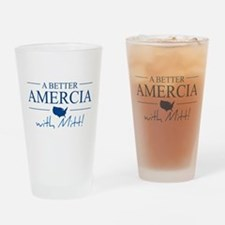 A Better Amercia with Mitt! Drinking Glass