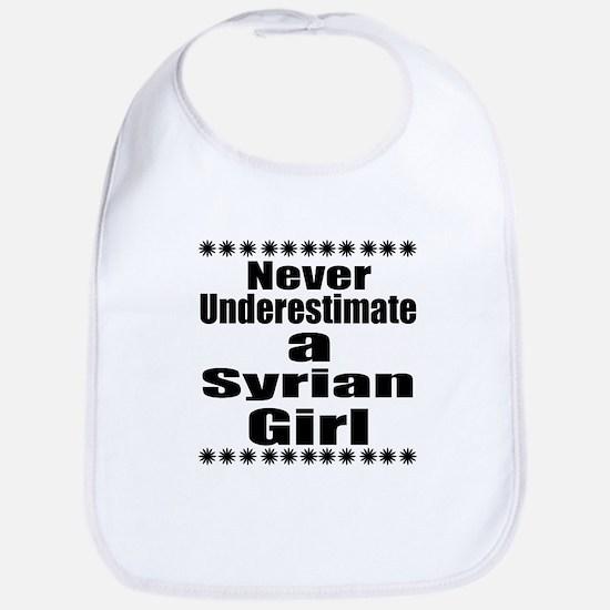 Never Underestimate A Syrian Girl Cotton Baby Bib