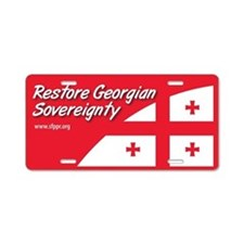 Restore Georgian Sovereignty Aluminum License Plat