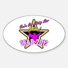 Grad Girls Allison: 0003 Sticker (Oval)