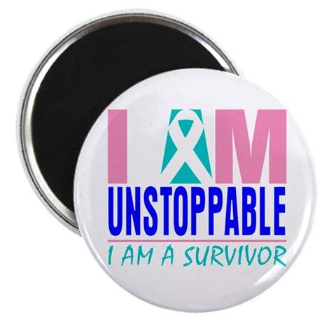"""Unstoppable Thyroid Cancer 2.25"""" Magnet (100 pack)"""