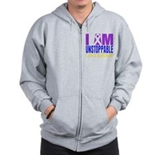 Unstoppable Bladder Cancer Zip Hoodie
