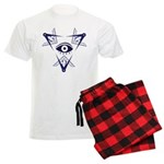 Tri Square and Compasses Men's Light Pajamas