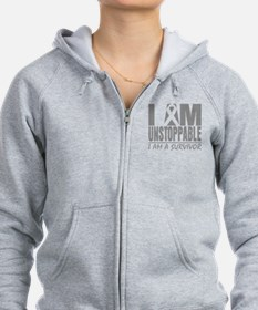 Unstoppable Brain Cancer Zip Hoodie