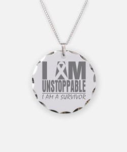 Unstoppable Brain Cancer Necklace Circle Charm