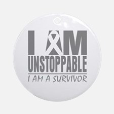 Unstoppable Brain Cancer Ornament (Round)