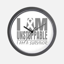 Unstoppable Brain Cancer Wall Clock