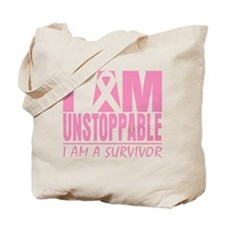 Unstoppable Breast Cancer Tote Bag