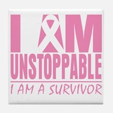 Unstoppable Breast Cancer Tile Coaster