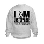 Unstoppable Carcinoid Cancer Kids Sweatshirt