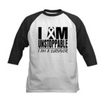 Unstoppable Carcinoid Cancer Kids Baseball Jersey
