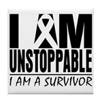 Unstoppable Carcinoid Cancer Tile Coaster