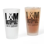 Unstoppable Carcinoid Cancer Drinking Glass
