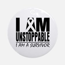 Unstoppable Carcinoid Cancer Ornament (Round)