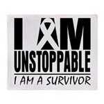Unstoppable Carcinoid Cancer Throw Blanket