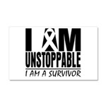 Unstoppable Carcinoid Cancer Car Magnet 20 x 12