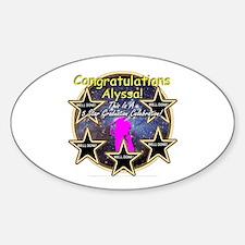 Grad Girls Alyssa: 0002 Sticker (Oval)