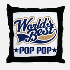 World's Best PopPop Throw Pillow