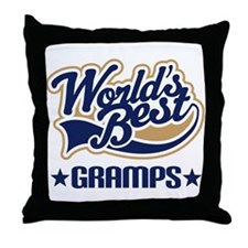 Worlds Best Gramps Throw Pillow