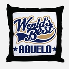 Worlds Best Abuelo Throw Pillow