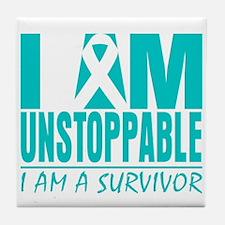 Unstoppable Cervical Cancer Tile Coaster