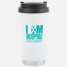 Unstoppable Cervical Cancer Travel Mug