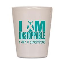 Unstoppable Cervical Cancer Shot Glass