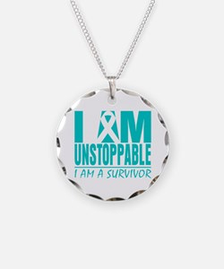 Unstoppable Cervical Cancer Necklace Circle Charm