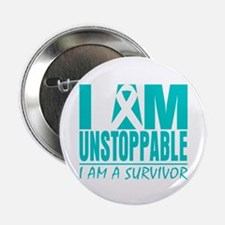 "Unstoppable Cervical Cancer 2.25"" Button (10 pack)"